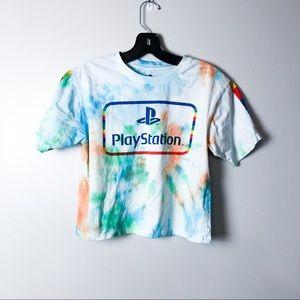 Playstation Tie Dye Graphic Crop Top